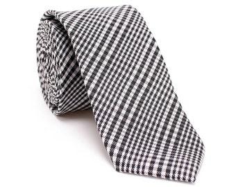 Wedding Groom Necktie Grey Plaid Necktie Check Woven Necktie Formal Necktie with Gift Box-NT.48S Gray Silk Necktie Men Slim Necktie