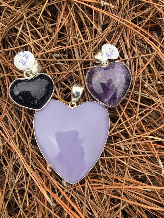 Fluorite heart pendant