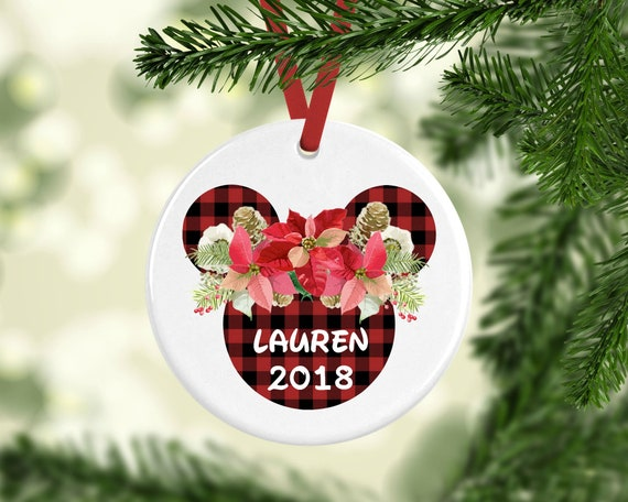 Minnie Ornament Disney Ornament Princess Ornament Buffalo Plaid Disney Ornament Disney Christmas Ornament Personalized Disney Ornament