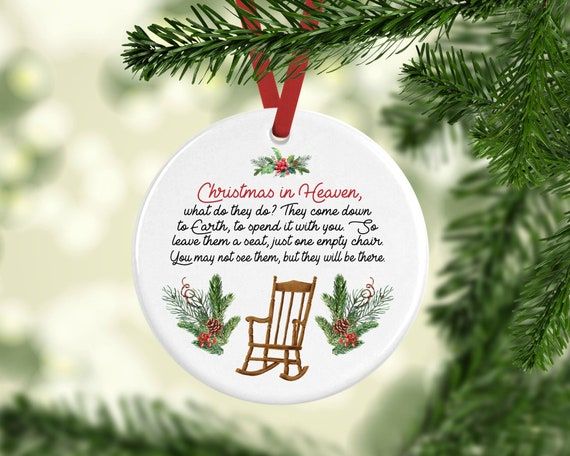 Christmas In Heaven.Christmas In Heaven Ornament Christmas In Heaven Memorial Ornaments Memorial Gift Memorial Christmas Grief Gift Remembrance Ornament