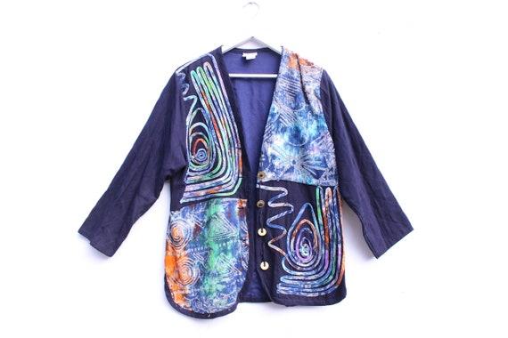 80s Rainbow Wearable Art Indonesian Batik Patchwor