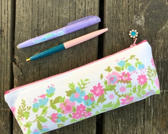 Vintage Sheet Craft and Pencil Pouch