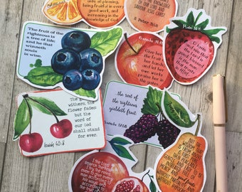 Bible Verse Cards- Being Fruitful