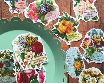 Vintage Floral Hymn Cards