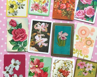 Summer Florals Vintage Playing Cards
