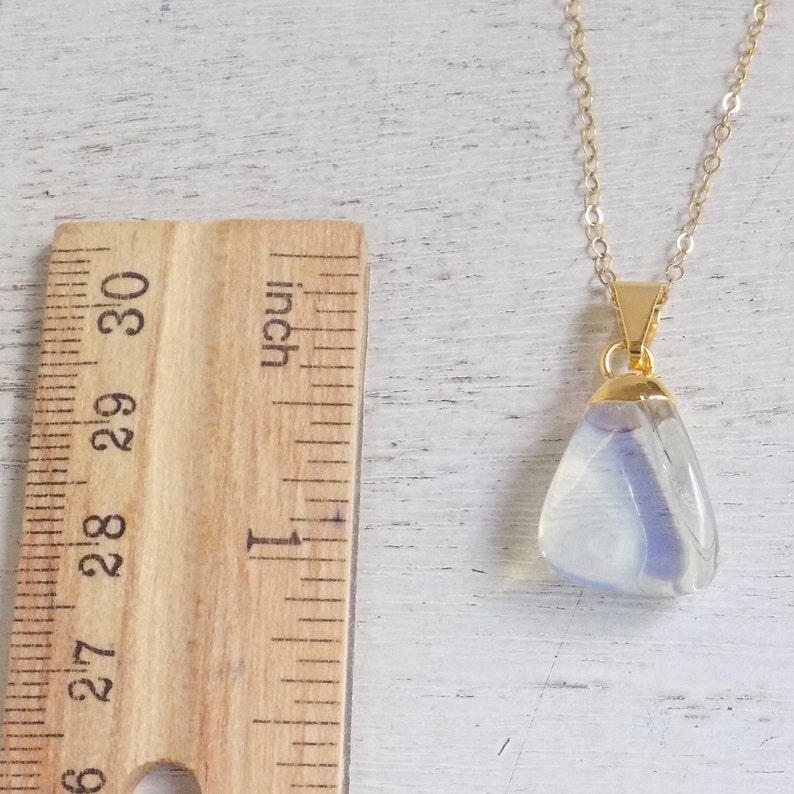 Initial Necklace October Birthstone Light Blue Crystal Personalized Opalite Necklace Gold R4-47 Gift Women