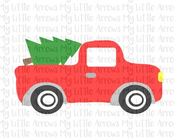 Christmas tree truck SVG, DXF, EPS, png Files for Cutting Machines Cameo or Cricut -christmas truck svg - boy christmas svg - christmas tree