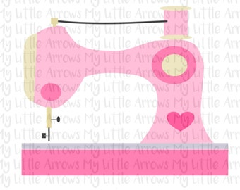 Sewing machine SVG, DXF, EPS, png Files for Cutting Machines Cameo or Cricut // sewing machine svg // wahm svg - entrepreneur svg