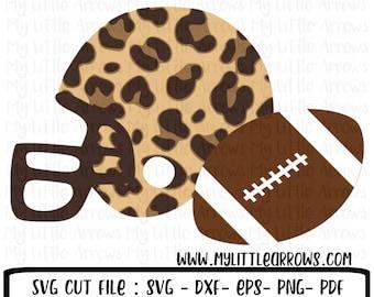 Leopard svg - Leopard football svg - football svg - football clipart - football png file - leopard football file - leopard football shirt