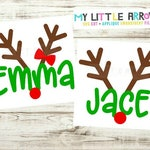 Matching sibling reindeer svg | matching Christmas svg | matching reindeer svg | sibling Christmas outfit | twin Christmas| reindeer svg