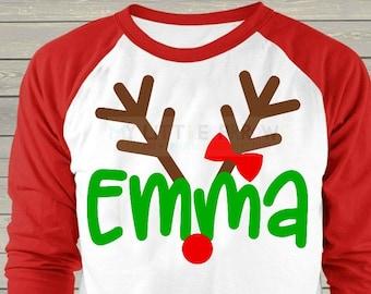 Girl Reindeer svg | girl christmas svg | girl christmas dxf | antlers svg | christmas antlers svg | girl svg | girl svg files | cricut svg