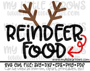 Reindeer Food Svg Etsy