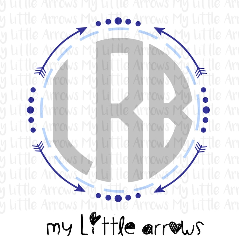 Boy Arrow Monogram Frame Svg Dxf Eps Png Files For Cutting Etsy
