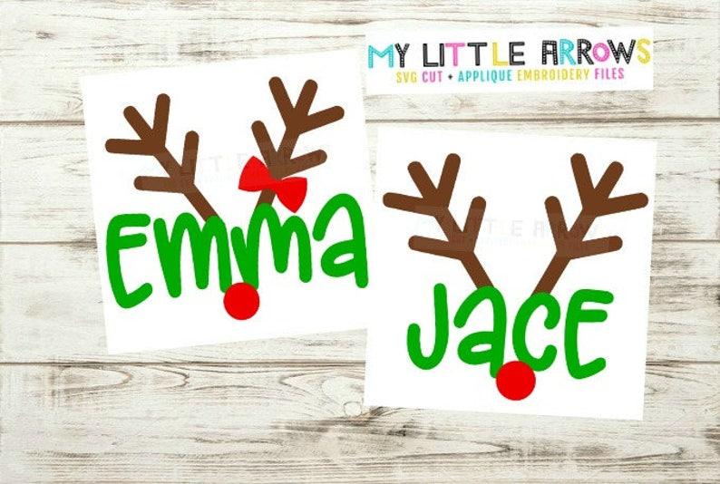 Matching sibling reindeer svg  matching Christmas svg  image 0