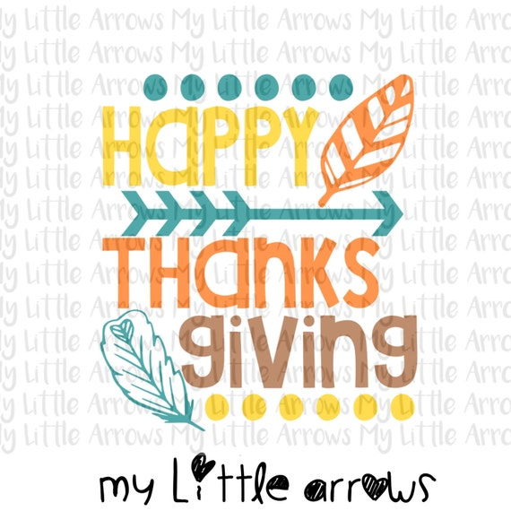 Happy Thanksgiving Svg Dxf Eps Png Files For Cutting Etsy