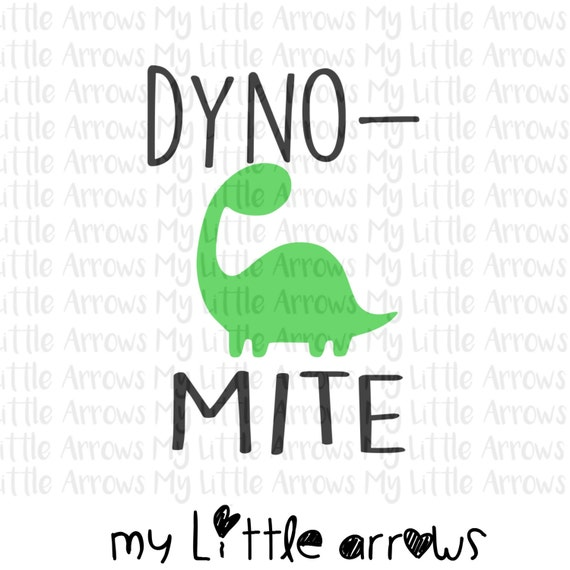 Dyno Mite Dinosaur Svg Dxf Eps Png Files For Cutting Etsy