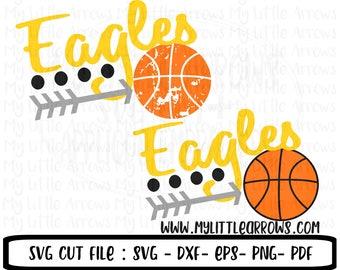 Eagles basketball svg -  basketball svg - basketball iron on - basketball clipart - basketball mom svg - eagles svg - basketball sister svg