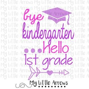 Kindergarten Graduate Svg Dxf Eps Png Files Cutting Etsy