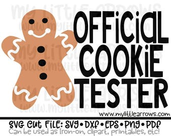 official cookie tester SVG, DXF, EPS, png Files for Cutting Machines Cameo or Cricut -gingerbread svg - cute christmas cut - boy christmas