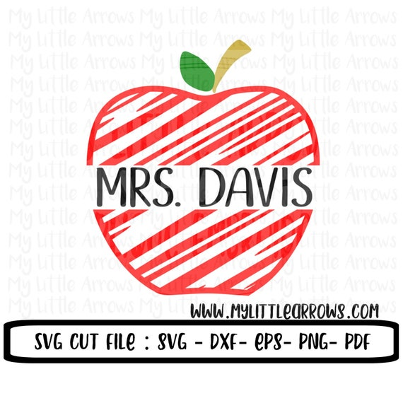 Teaching Shirt Teacher Gift Svg Custom Apple Svg Vinyl Etsy