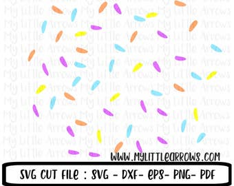 Ice cream sprinkles SVG, DXF, EPS, png Files for Cutting Machines Cameo or Cricut - summer monogram svg - ice cream birthday -sprinkles svg