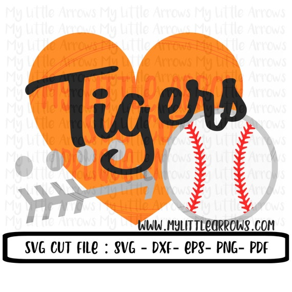 Tigers Baseball Svg Svg Dxf Eps Png Files For Cutting Etsy