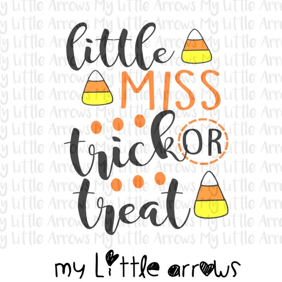 Little Miss Trick Or Treat Svg Dxf Eps Png Files For Etsy