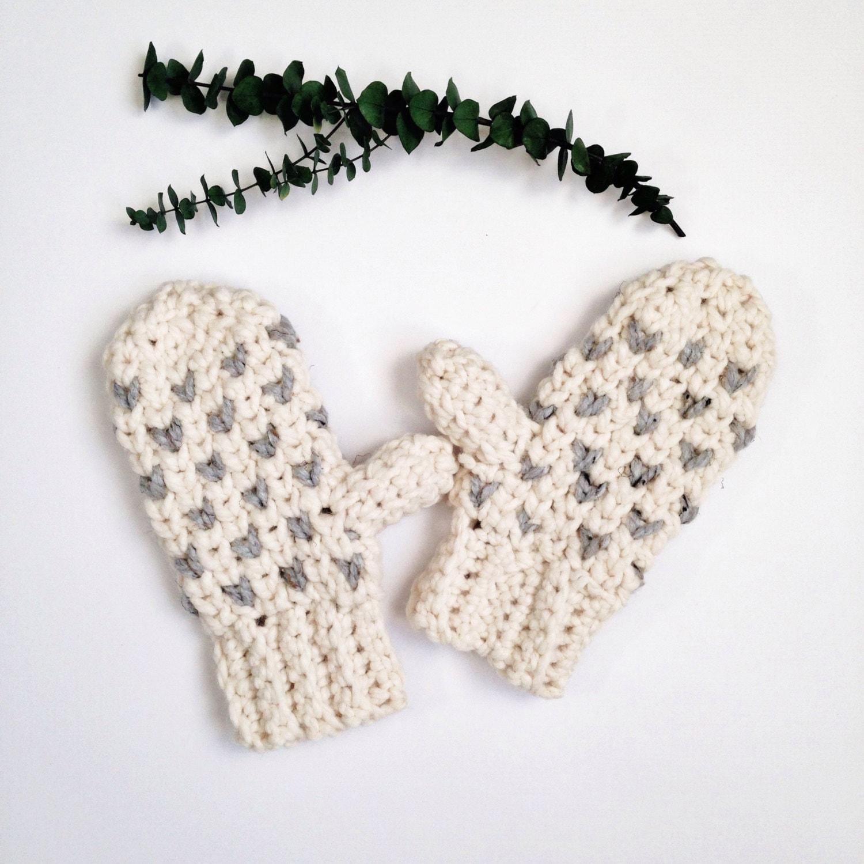 Winter Crochet Patterns Crochet Mitten Pattern Crochet Etsy