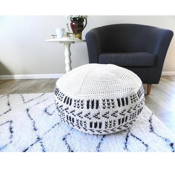 Crochet Pouf Pattern Crochet Floor Pouf Crochet Ottoman Etsy