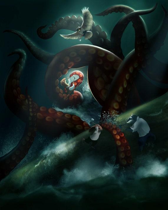 Fantasy Octopus Art