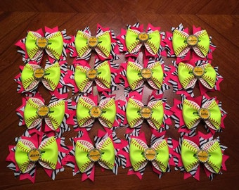 Team Orders - Personalized Softball Hair Bows