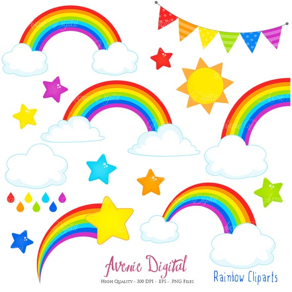 rainbows clipart scrapbook printables vector rainbow and cloud clip rh etsystudio com scrapbooking clipart scrapbooking clip art free