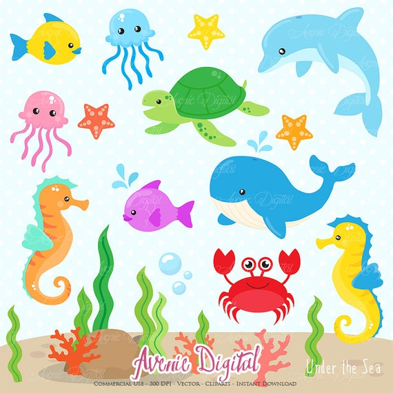 graphic regarding Under the Sea Printable named Beneath the Sea Clipart. Sbook printable Adorable Sea pets Clip Artwork png for Industrial Employ. Dolphin whale fish crab nautical graphics