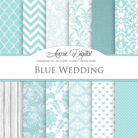 Light Blue Wedding Digital Paper Scrapbooking Backgrounds Bridal Patterns For Save The Date Cards And Invitation Commercial Use Download