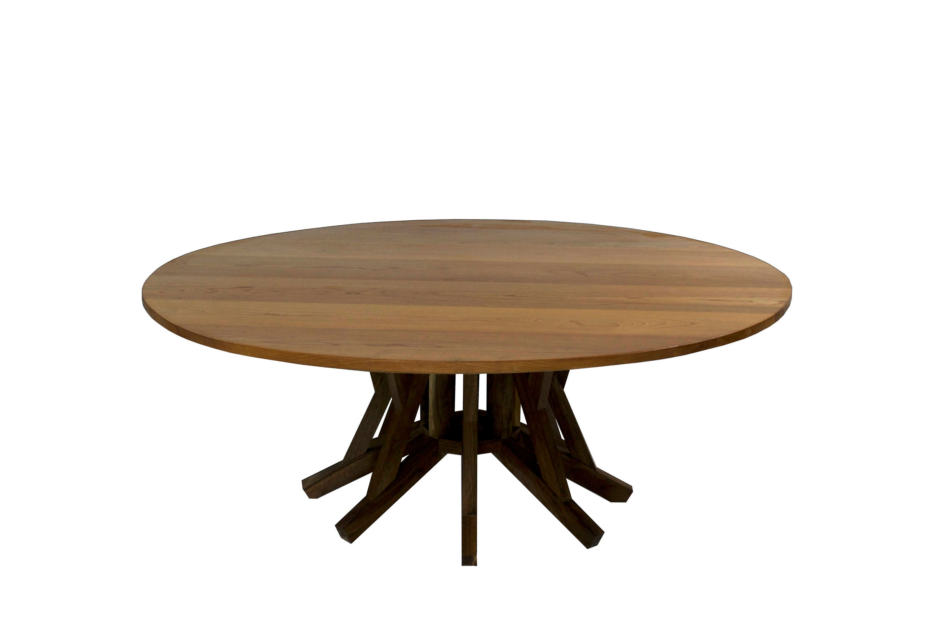 modern coffee table 40 inch round cherry table top solid etsy. Black Bedroom Furniture Sets. Home Design Ideas