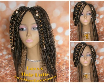 Brown Large Senegalese Twist Wig Unit Big Straight Long Etsy