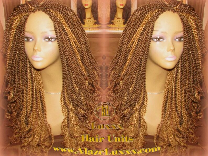 Kinky Marley Twist Wig 22 Long Blonde Bombshell 2tone Etsy
