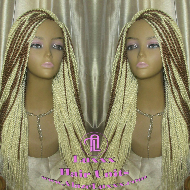 1a1cd6b7cc 613 Blonde Long Straight Small Senegalese Twist Wig Unit