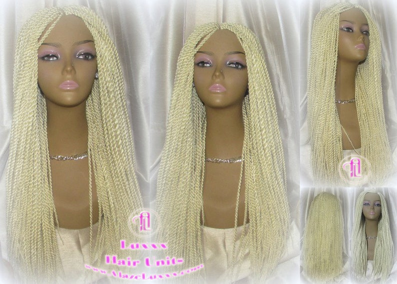 Senegalese Twist Twisted Braid Wig 613 Blonde Long Straight Etsy