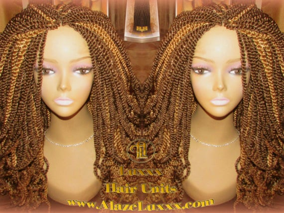 18 Long Blonde Bombshell 2tone Brown Kinky Marley Twist Etsy