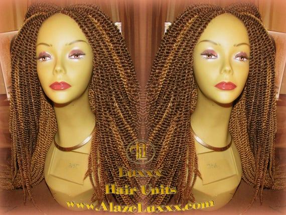 Kinky Marley Twist Honey Blonde Straight Drop 2tone Brown Wig Etsy