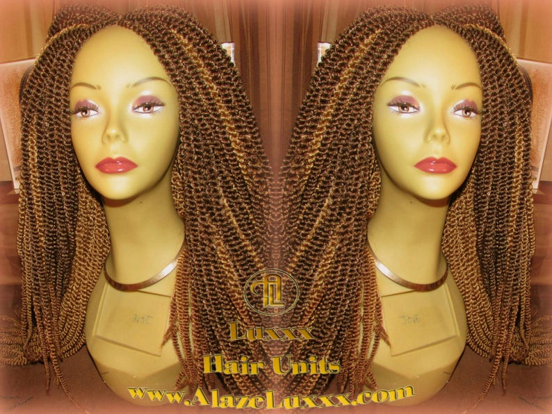 Kinky Marley Twist Honey Blonde Straight Drop 2tone Brown Wig Etsy