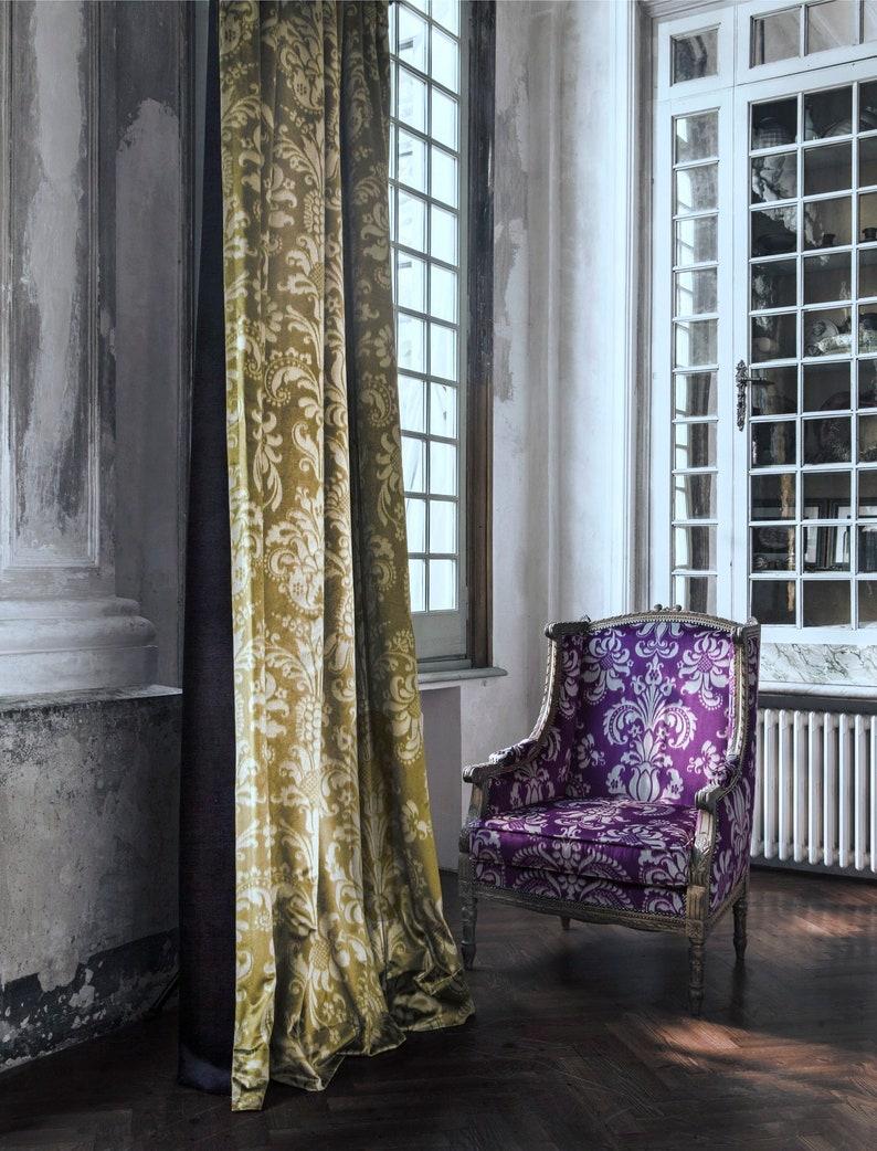 Velvetupholsteryupholsteryprinted noble velvet*violet*Carlucci Vicenza*Meterware*Luxury
