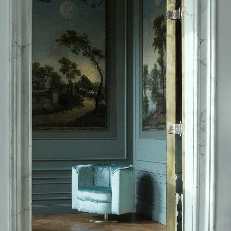 Palazzo Velvet fabric meterware upholstery velvet turquoise shimmer fabric upholstery upholstery Carlucci jab