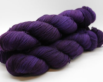 Deep Purple Hand Dyed Yarn