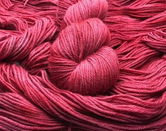 Garnet on Comet DK Non-Superwash Hand Dyed Yarn