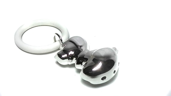 Vintage Style Silver Plated Baby Chime Rattle