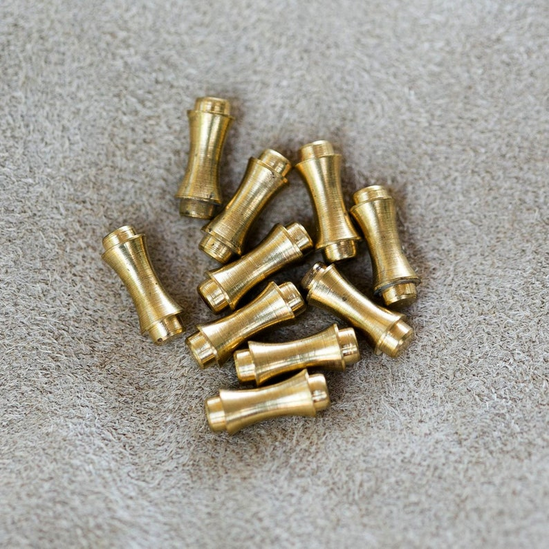 Antique Gold Tone Old Stock Vintage Clutches Raw Brass Hat Pin Bullets Stick Pin Back Ends 11mm Brass Pin End 4 Piece