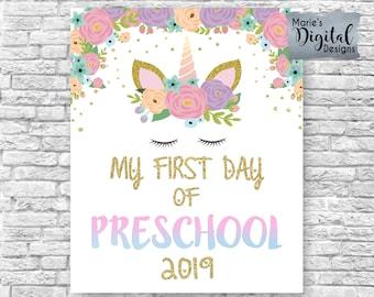 1st day of preschool   Etsy