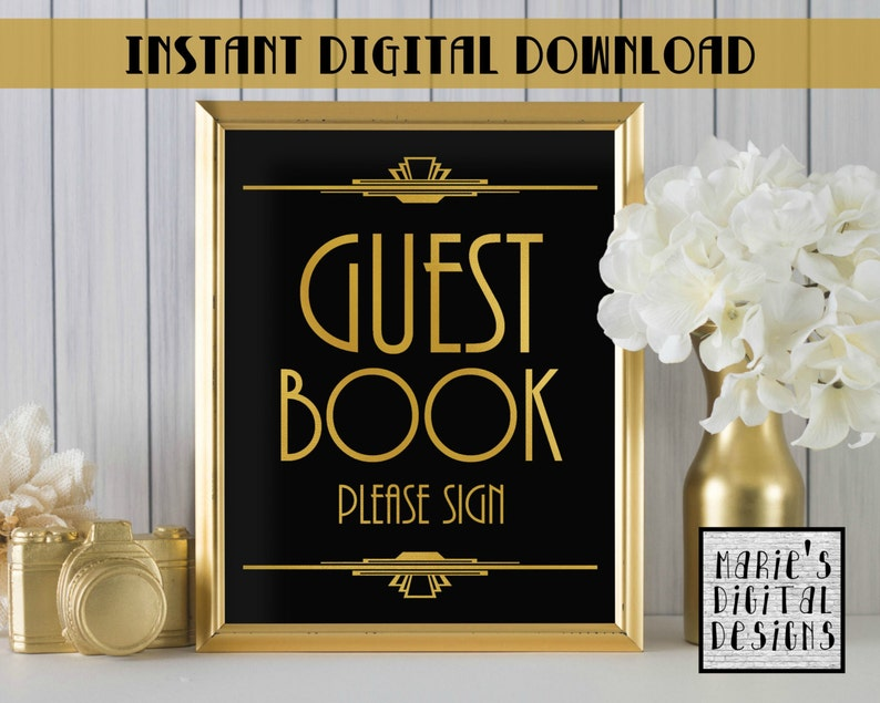 Sunflower Rustic Guest Book Sign 520 Editable Instant Download Editable Guestbook Sign